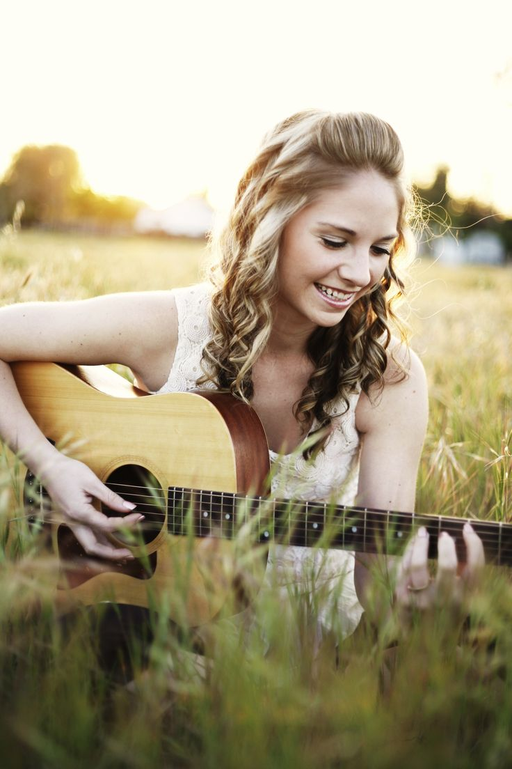 senior girl photography #gorgeous #guitar