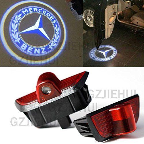 2pcs led door light courtesy projector lamp for merrceedes beennzz c class w204 mercedes c300. Black Bedroom Furniture Sets. Home Design Ideas