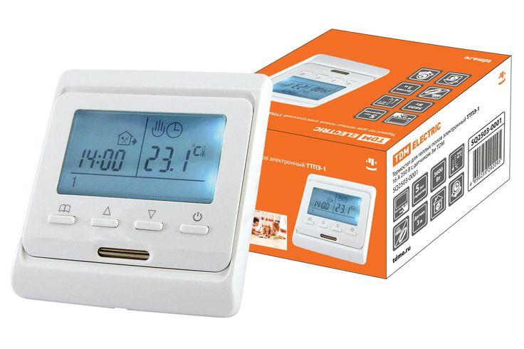 Купить Термостат для теплых полов электронный ТТПЭ-1 16А 250В с датчиком 3м TDM оптом и в розницу