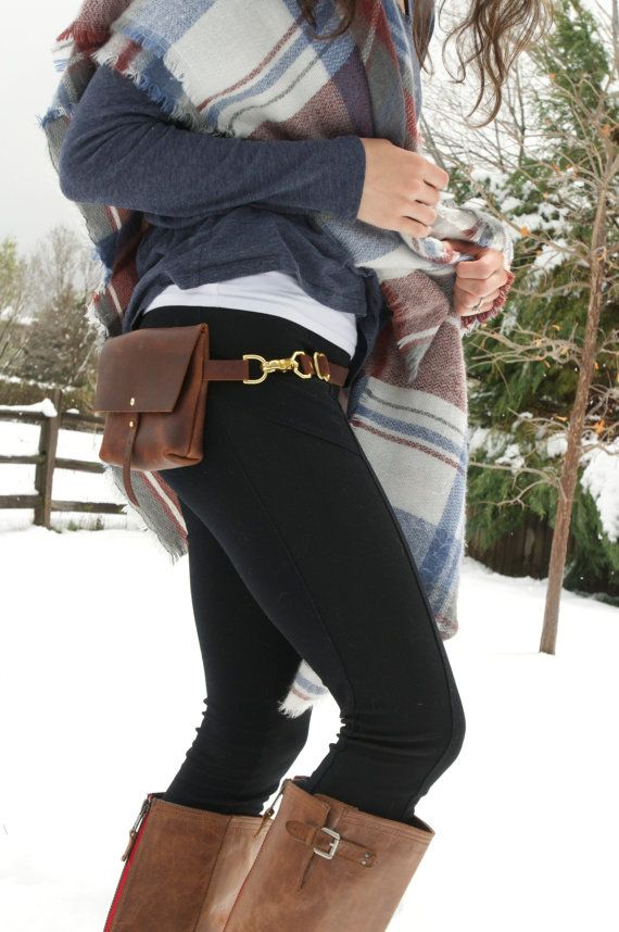 The Bogotá Hip Bag and Pouch Purse in Rustic by TheRootlessSpruce