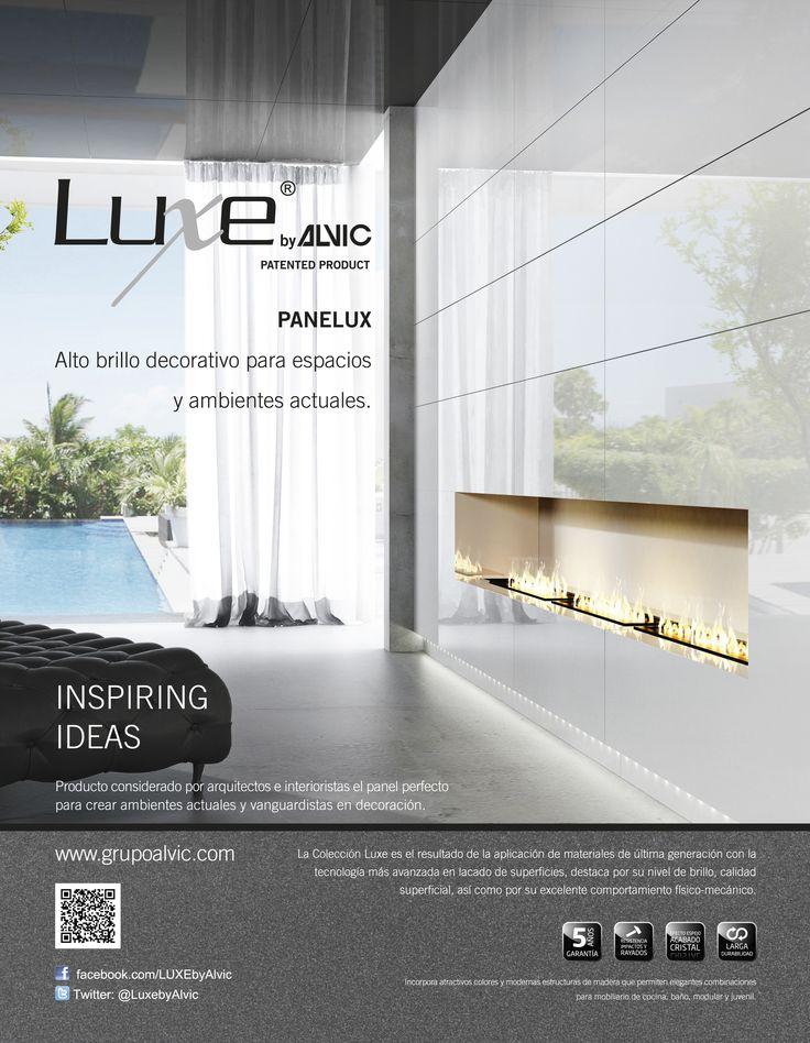 anuncio de luxe by alvic panelux para la revista diseo interior with las mejores revistas de decoracion de interiores