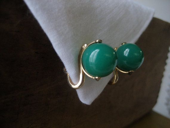 Vintage Glass Jade Napier Signed Earrings: Glasses Jade, Jade Napier, Signs Earrings, Vintage Glasses, Napier Signs