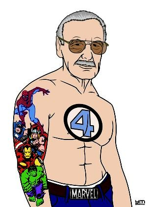Best Marvel Pic Ever... I envy your sleeve Stan Lee...