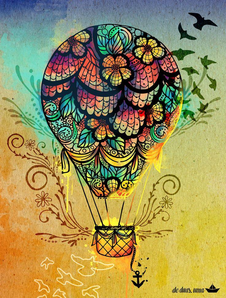Hot air balloon, love the multi coloured look