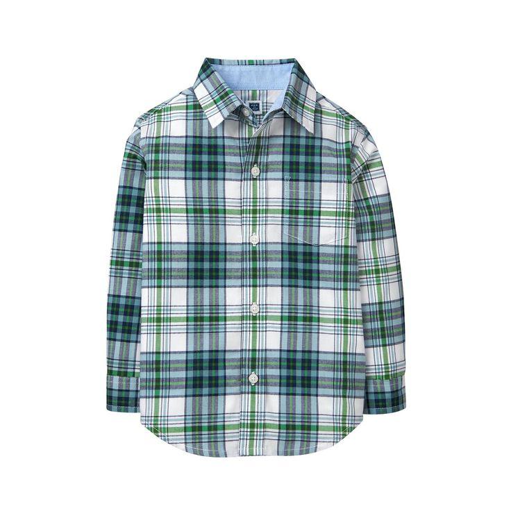 Boy Meadow Green Plaid Plaid Madras Shirt by Janie and Jack