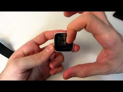 We swipe, pinch and wear the Sony Smart Watch.