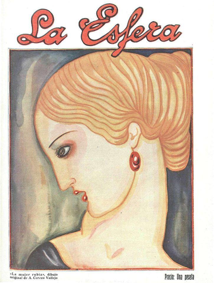 Revista La Esfera, 24/03/1928 - Portada : A. Cerezo Vallejo