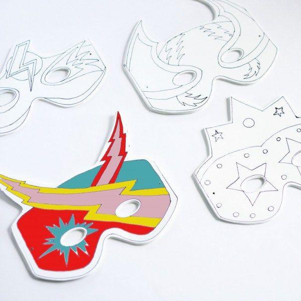 {Free printable} 25 masques à imprimer pour Mardi Gras!