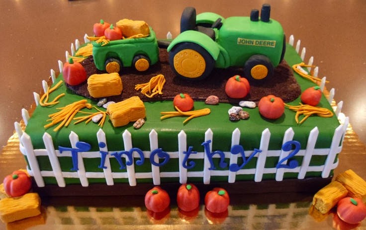 Tractor cake - John Deere Tractor Cake  100% edible.