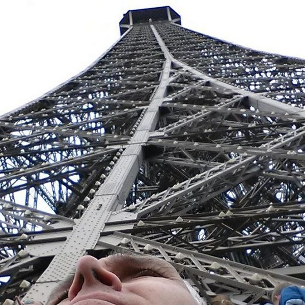 Hehe.. My nose is not as big at the Eiffel Tower! #Eiffel #Eiffeltower #Bignose #LoveParis #Paris #LoveLife ♡
