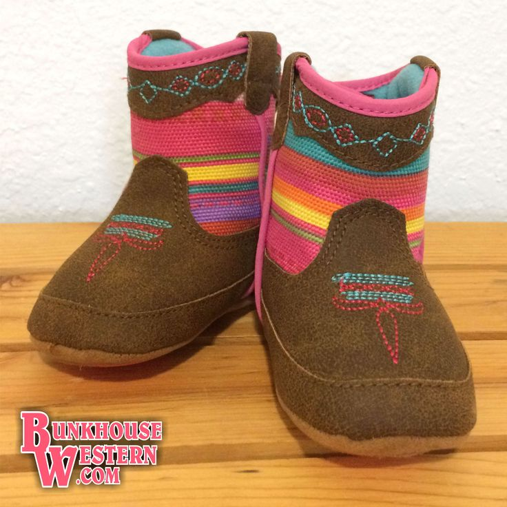Infant, Camilla, Pink Cowgirl Boots, by Blazin Rocks, Velcro Back, Baby Buckers, $20