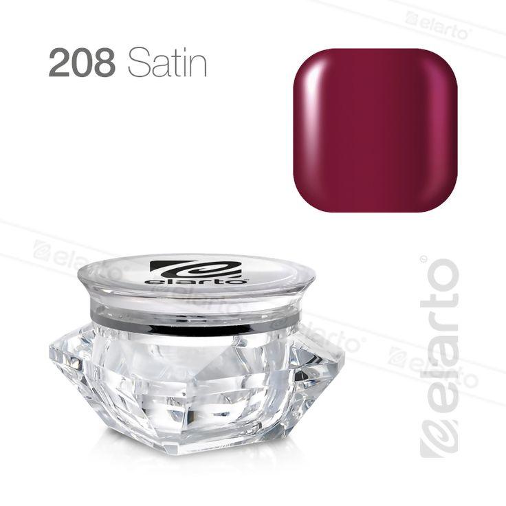 Żel kolorowy Extreme Color Gel nr 208 - bordowy (satyna) 5g #elarto #żel #kolorowy #bordowy #satyna