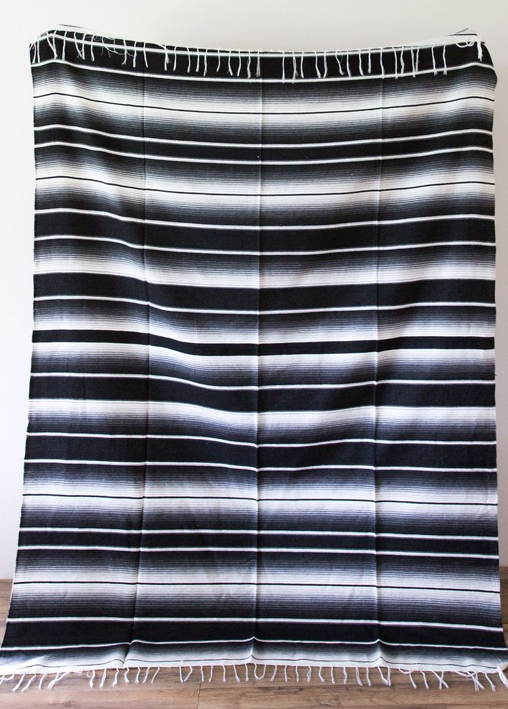 Black & White Minimalist Throw from The Bohemian Shop