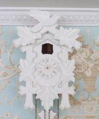 ドイツ製 鳩時計 ハト時計 ホワイトSサイズ 掛け時計 TRENKLE UHREN トレンクル・ウーレン社