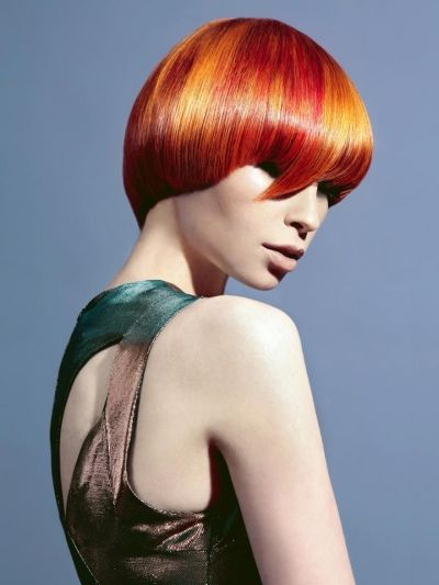 Goldwell Red Bob Hairstyle