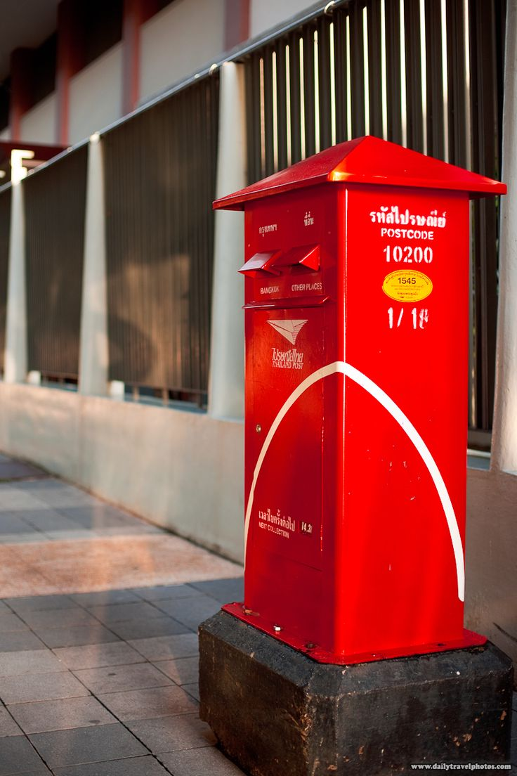 Mailbox stainless steel locking mail box letterbox postal box modern - Thailand Mail Box In A Beautiful Shade Of Red