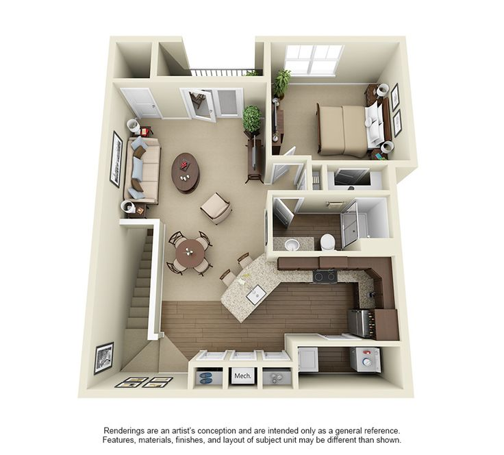 Highland Square Apartments: The Highland At 952 Square Feet