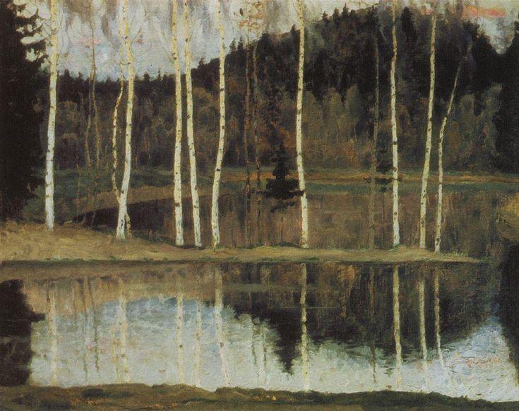 Михаил Васильевич Нестеров » Картины, живопись » Начало весны (Ранняя весна). 1905