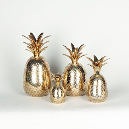 Piña Colada SALE 6 or 7 Inch Brass Pineapple. by FIGHOUSEVINTAGE