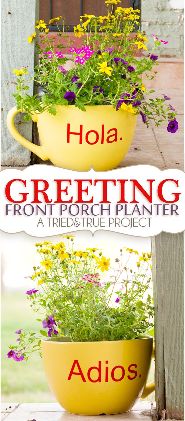 Greeting Front Porch Planter - A Tried & True Project