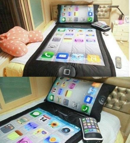 For The IFansApples Iphone, Iphone Bedsheets, Big Apple, Funny Bedsheets, Apples Beds, Bedrooms Decor, Beds Sets, Funny Iphone, Bedsheets Sets
