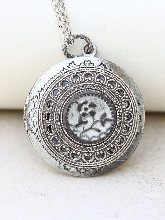 Kersenbloesem medaillon zilveren medaillon zomertuin