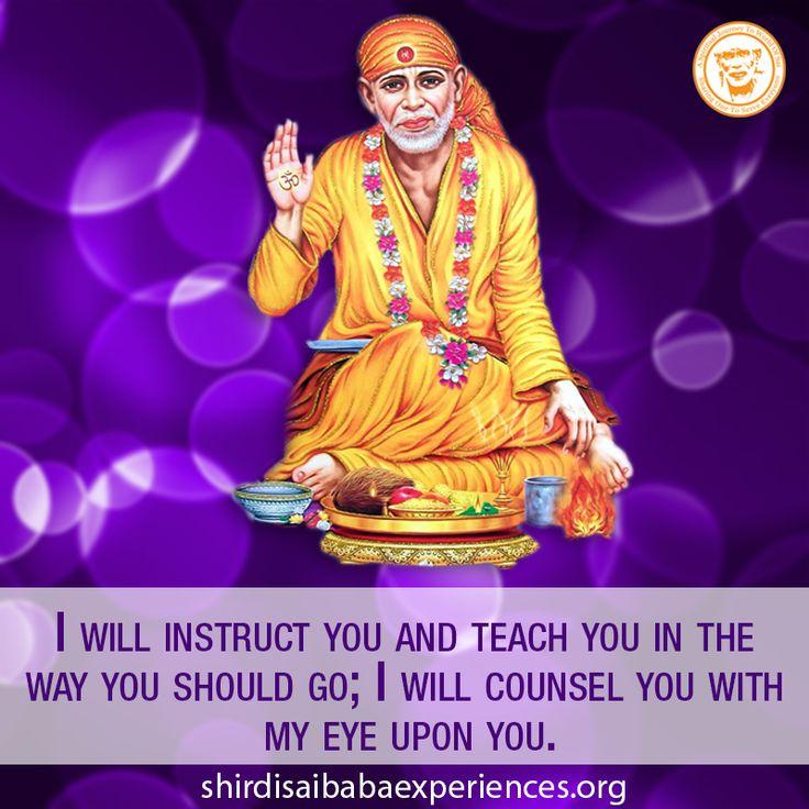 I Will Counsel You - Shirdi Sai Baba Wallpaper - Free Download - Shirdi Sai Baba Life Teachings and Stories