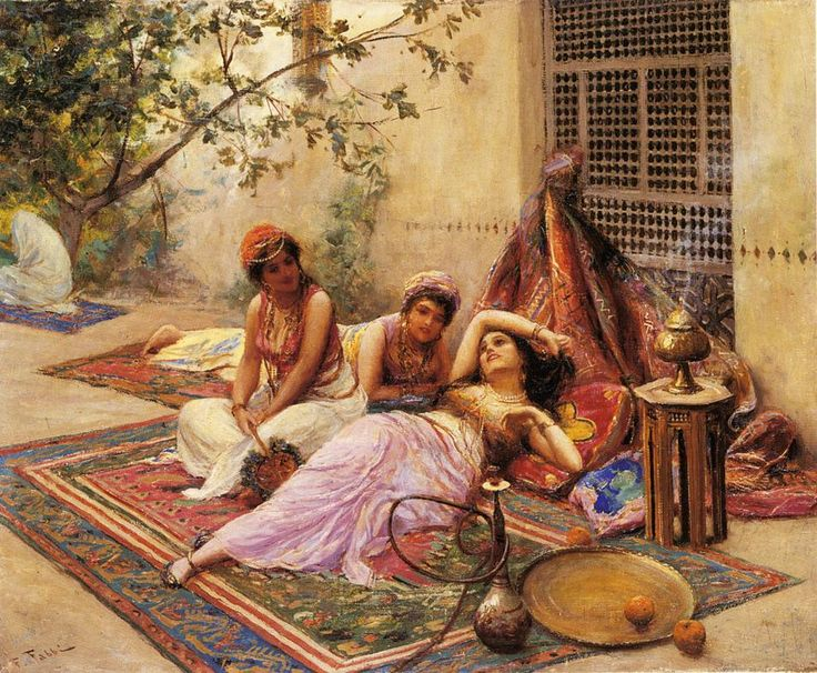 fabio-fabbi-italian-painter1861-1946-girls-of-the-harem @@@@......http://www.pinterest.com/louisect/1001-nuits/
