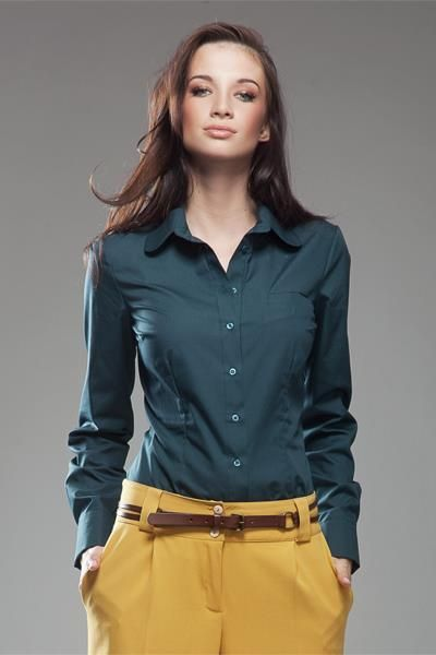 Рубашка зеленая женская москва