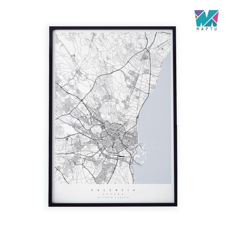 Czarno-biała mapa | maptu.pl