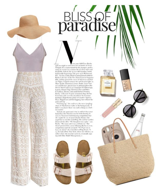 street style: classy on the summer by srsstreetcouture on Polyvore featuring polyvore, fashion, style, Alice + Olivia, Birkenstock, Old Navy, NARS Cosmetics, Smith & Cult, Evian, Fujifilm and clothing