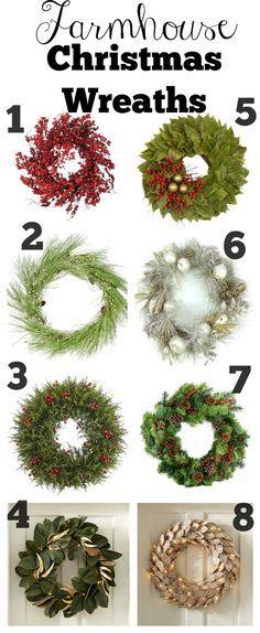 Farmhouse Style Christmas Wreaths