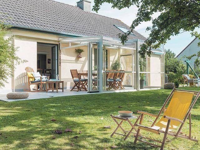 Un Abri De Terrasse 100 Verre Une Innovation Gustave Rideau Abri Terrasse Terrasse Decoration Exterieur
