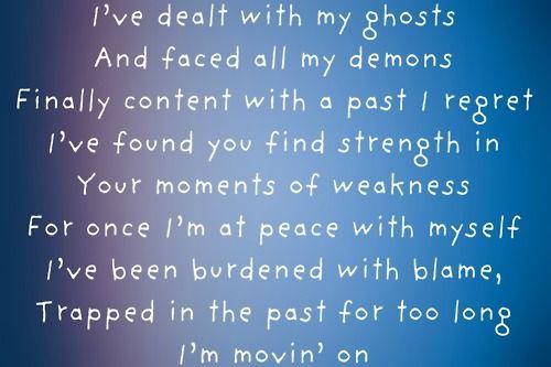 I'm moving on--Rascal Flatts..I am always about the lyrics...