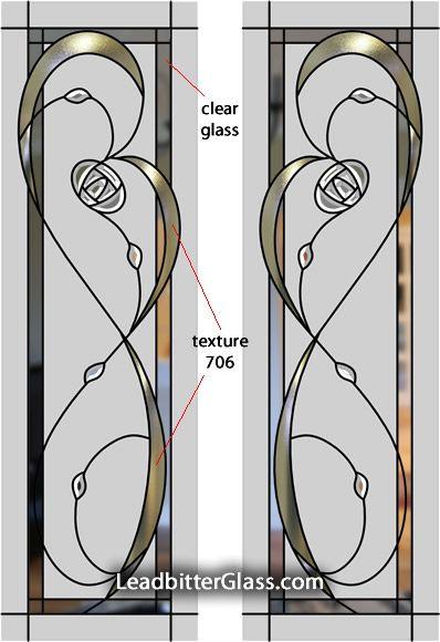 mackintosh stained glass | Leaded & Coloured Glass Mackintosh Doors Cheshire UK