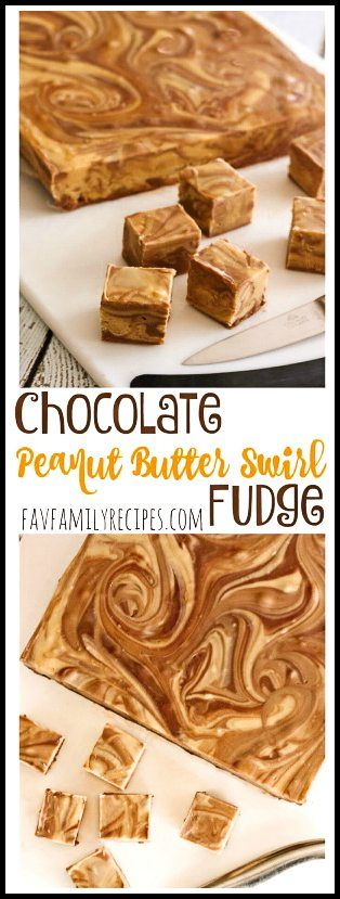 This Chocolate Peanut Butter Fudge Swirl is so easy to make and incredibly creamy and delicious! Tastes like a Reese's Peanut Butter Cup in fudge form.. #peanutbutterfudge #chocolatefudge #peanutbutterandchocolate #fudge via @favfamilyrecipz