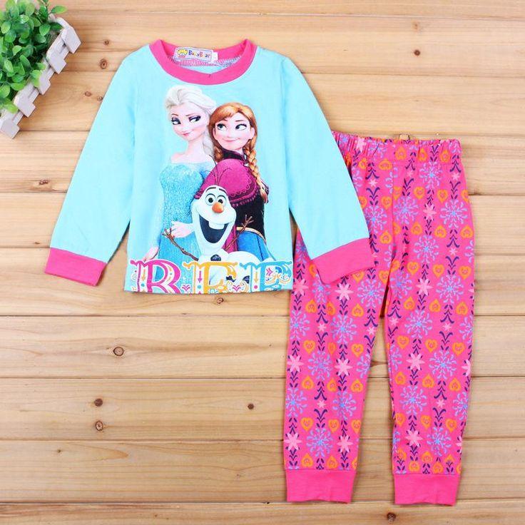 >> Click to Buy << Children Anna Elsa Pajama Sets Baby Girls Autumn Winter Princess Clothing Sets Infant Girl Sleepwear Nightgown Pijamas de Ninos #Affiliate