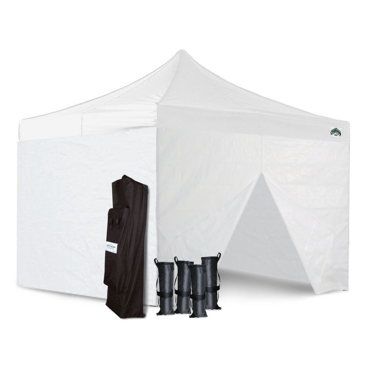 Craft Show 10x10 Canopy Package Deal + 4 Sidewalls & Weight Bags