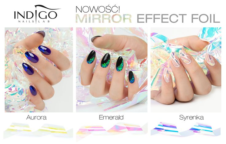 MIRROR EFFECT FOIL FROM INDIGO NAILS LAB IRELAND!!!!