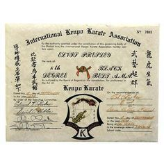 68 best elvis presley family and friends images on pinterest degree kenpo karate black belt certificate presented to elvis september 1974 by his karate instructor ed parker yelopaper Images
