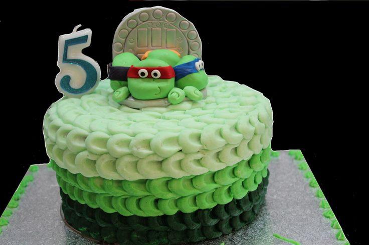 ninja turtle themed cake