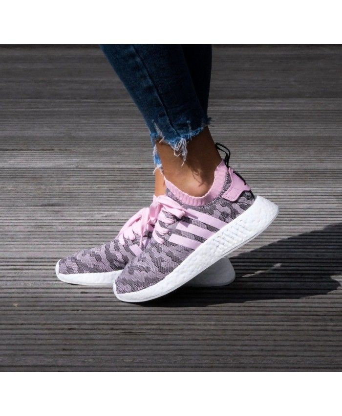 Cheap Adidas NMD R2 PK Trainers In Wonder Pink Sale Clearance