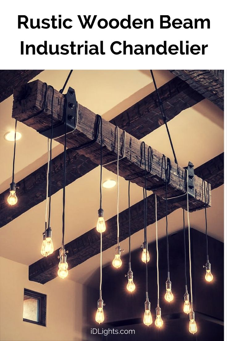 Best 25 wooden chandelier ideas on pinterest hanging lamps create your own rustic industrial chandelier for your modern farmhouse lighting with a reclaimed wood beam arubaitofo Choice Image