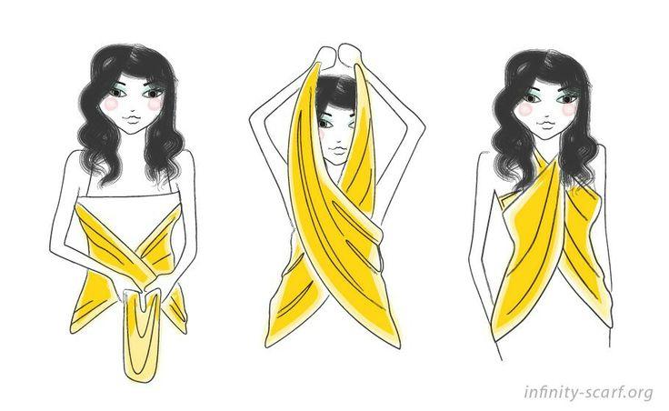 Way to wear a scarf