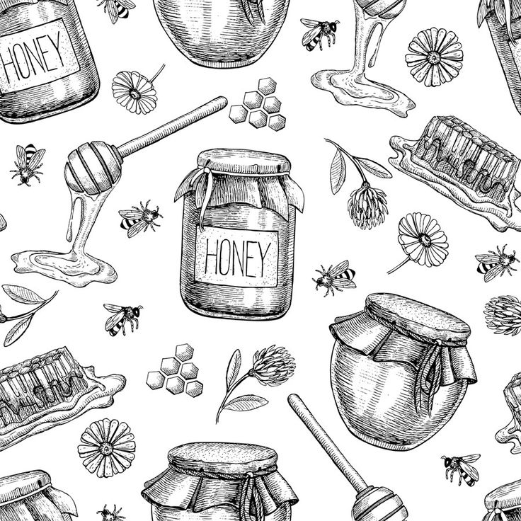 Honey Bee Sweet Removable Wallpaper