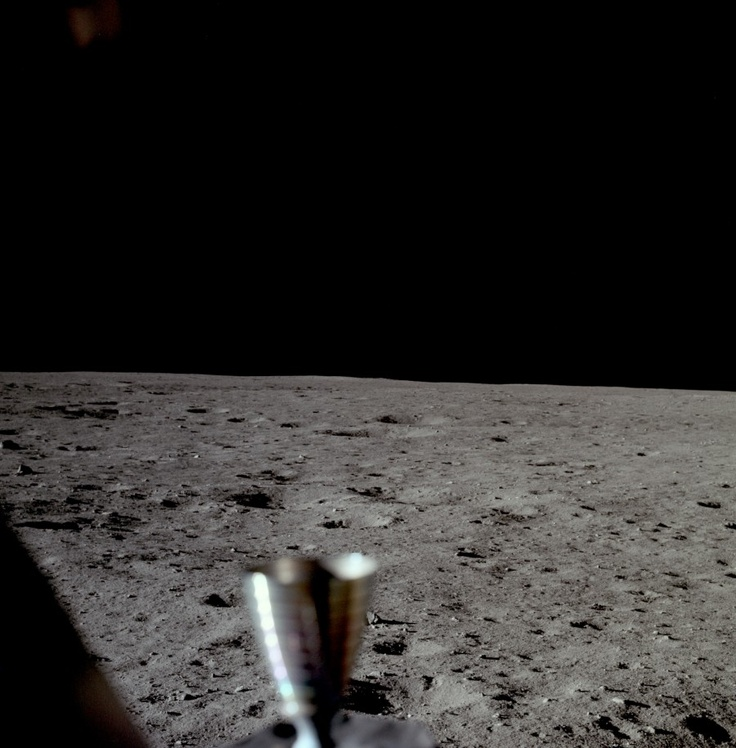 The first picture taken by a human on the surface of another world: Neil Armstrong took this looking out his window to the south; a thruster is in the foreground: Apollo Image, Window, Apollo Spacecraft, Moon Nasa, Photo, The Moon