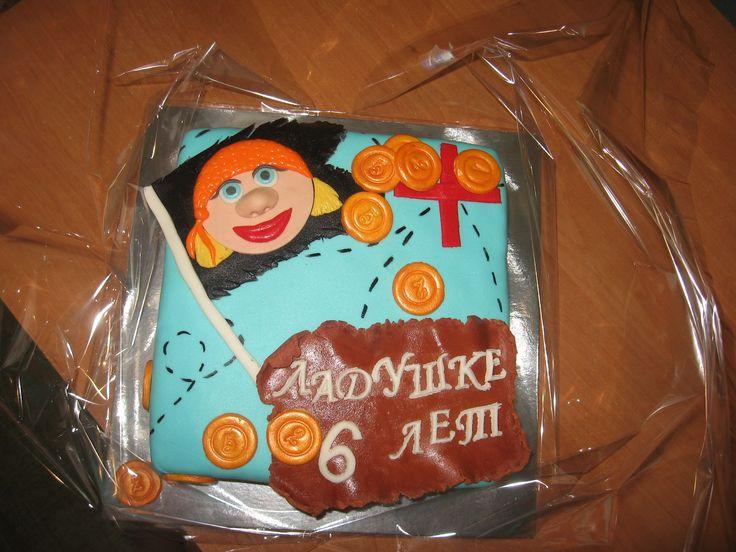 Пираты, клад и карта #торт_на_заказ_днепродзержинск #тематические #бисквитный_торт #комбинированный_торт
