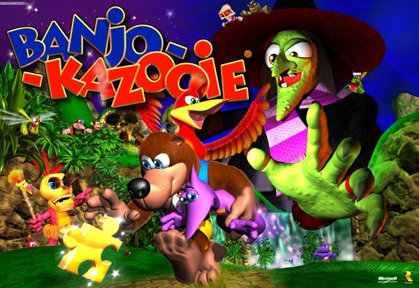 Banjo Kazooie. Nintendo 64 (Want/need this game because nostalgia and I don't remember the ending so it's my duty to fulfil this adventure and beat the game)