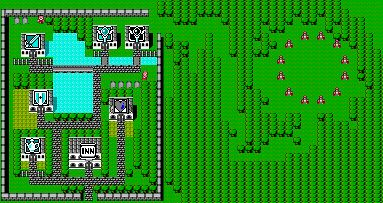 Final Fantasy 1 town - References for linking areas together
