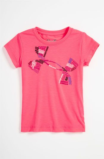 Under Armour Tee (Toddler) love these colors! My girls have a lot of under armour clothing! They will be athletic like their mommy! :)